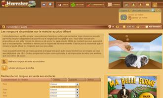 HamsterStory - Acheter un rongeur aux encheres et autres interactions
